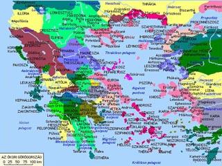ókori görögország térkép Tanórai segédletek ókori görögország térkép
